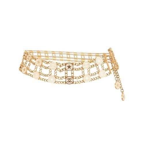 Chanel Pre-Owned 2001 Gürtel mit CC - Gold Unisex regular