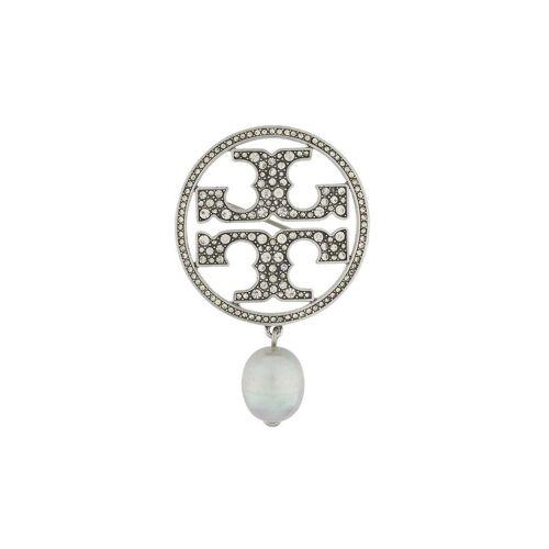 Tory Burch Brosche mit Kristallen - Silber Male regular