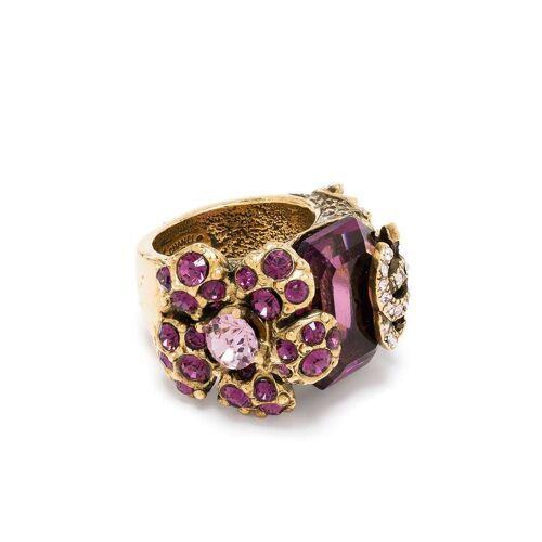 Chanel Pre-Owned 2004 Ring mit Kristallen - Gold Female regular