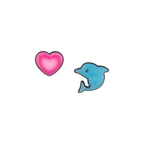 Balenciaga Sticker Ohrringe mit Delfin und Herz - Blau Male regular