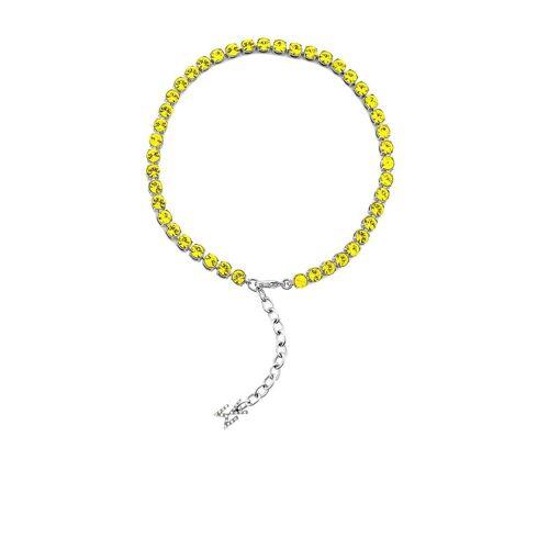 Amina Muaddi Fußkettchen mit Kristallen - Gelb Male regular