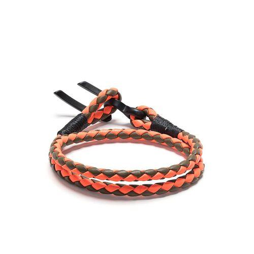 Diesel Geflochtene Halskette - Grün Male regular