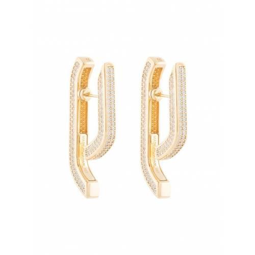 AMBUSH Ohrringe mit Kristallen - Gold Male regular