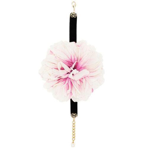 Dolce & Gabbana Choker mit Kristallblumen - Rosa Male regular