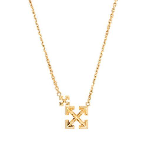 Off-White Halskette mit doppeltem Pfeil-Logo - Gold Male regular