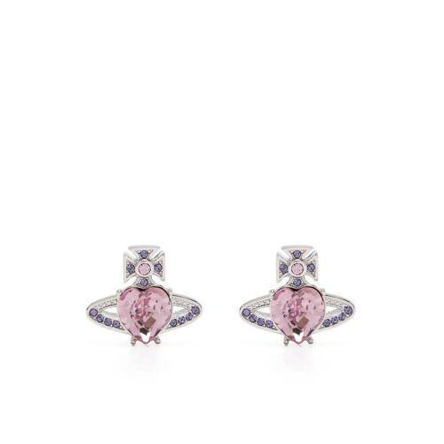 Vivienne Westwood Ariella Kristallohrringe mit Herzform - Silber Unisex regular