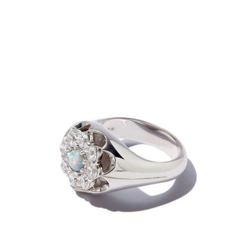 Hatton Labs Siegelring mit Kristallblume - Silber Female regular