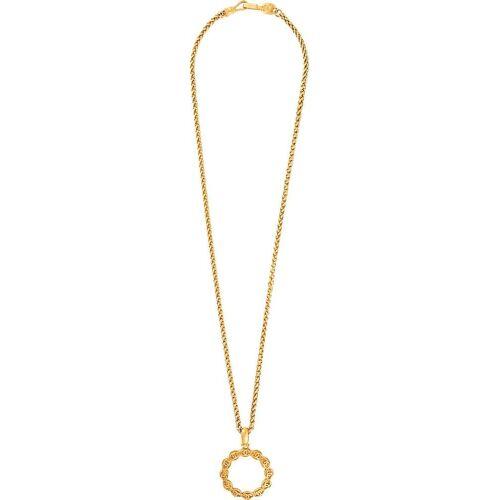 Chanel Pre-Owned 1995 lange Halskette mit CC-Lupenanhänger - Gold Unisex regular