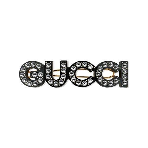 Gucci Gucci Haarspange mit Kristallen - Schwarz Female regular