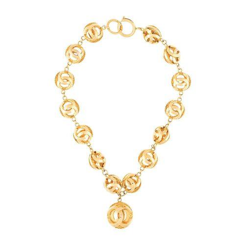 Chanel Pre-Owned Halskette mit Logo - Gold Male regular