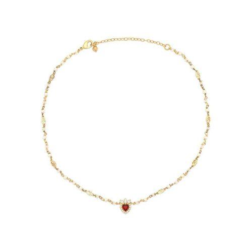 Gucci Halskette mit Kristallanhänger - Gold Female regular