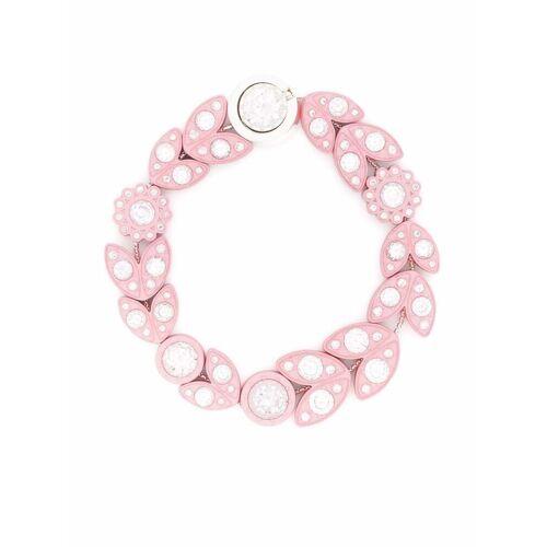 Bottega Veneta Armband mit kristallverzierten Blüten - Rosa Female regular