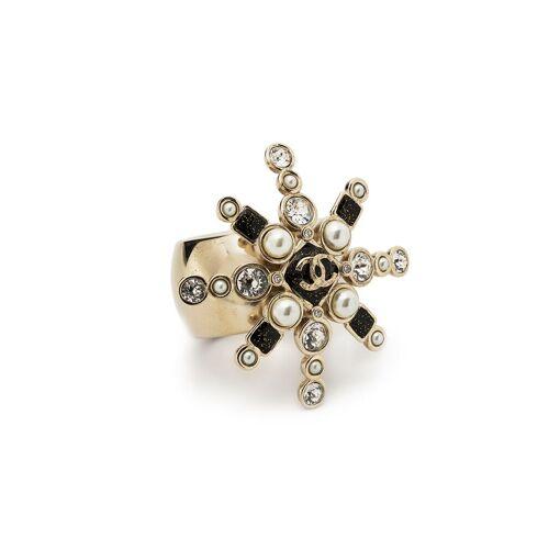 Chanel Pre-Owned Sternförmiger Kristallring mit CC - Gold Male regular