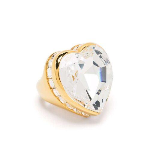 AMBUSH Ring mit Kristallherz - Gold Unisex regular