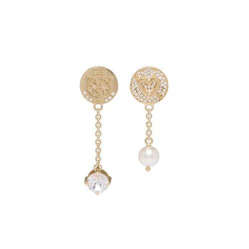 Miu Miu Ohrringe mit Kristallen - Gold Male regular