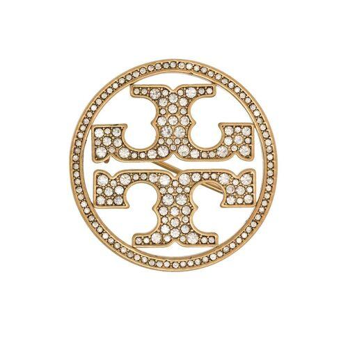 Tory Burch Logo-Brosche mit Kristallen - Gold Male regular