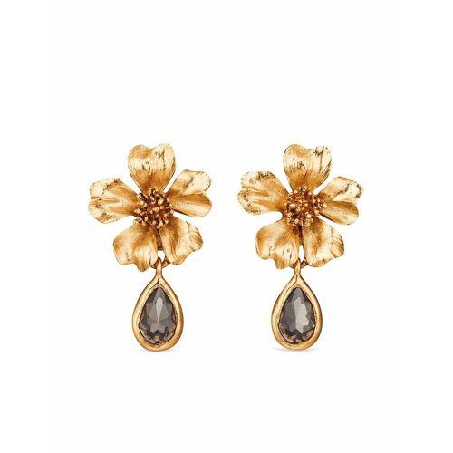 Oscar de la Renta Ohrclips mit Kristallen - Gold Male regular