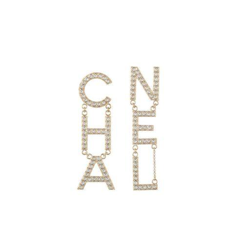 Chanel Pre-Owned Ohrringe mit Kristallen - Gold Unisex regular