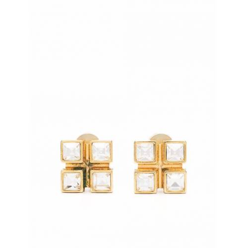 Yves Saint Laurent Pre-Owned 2010s Ohrclips mit Kristall - Gold Female regular