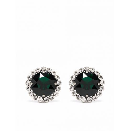 Alessandra Rich Ohrclips mit Kristall - Silber Male regular