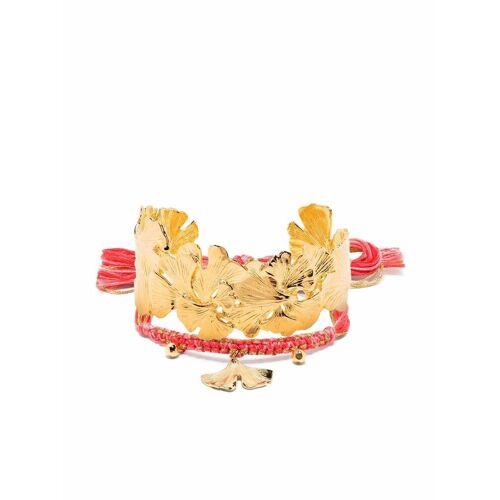 Aurelie Bidermann Ginkgo Armband-Set - Gold Female regular