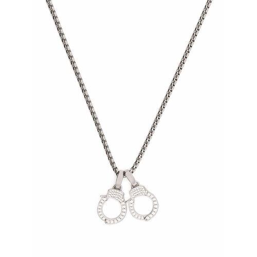 DARKAI Halskette mit Kristallanhängern - Silber Unisex regular