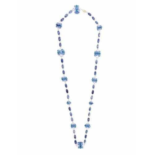 Swarovski Halskette mit Swarovski-Kristallen - Blau Unisex regular