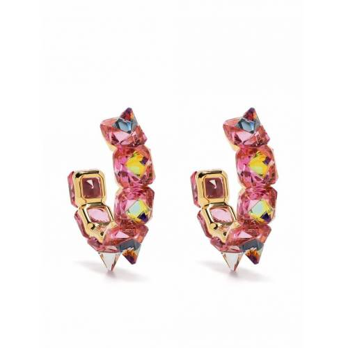 Swarovski Ohrringe mit Kristallen - Rosa Male regular