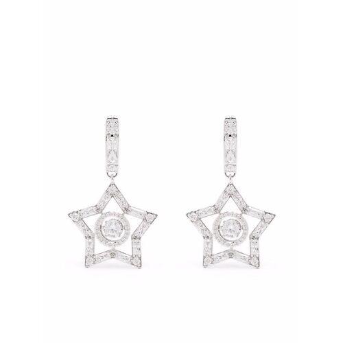 Swarovski Stella Ohrringe mit Swarovski-Kristallen - Silber Male regular