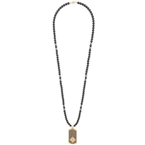 Nialaya Jewelry Halskette mit Hundemarke - Schwarz Male regular