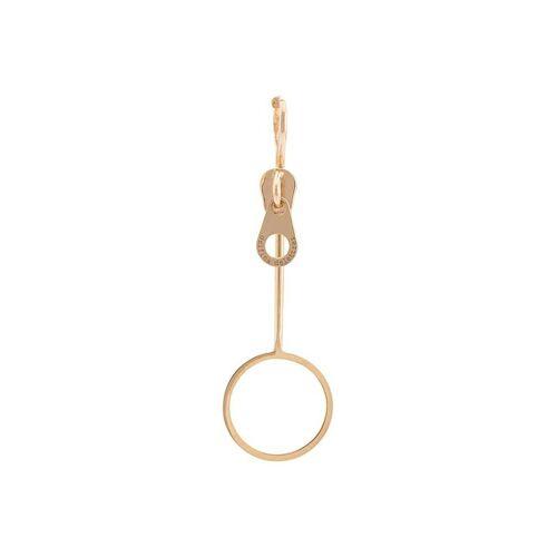 Delfina Delettrez Ohrring im Reißverschluss-Design - Gelb Female regular