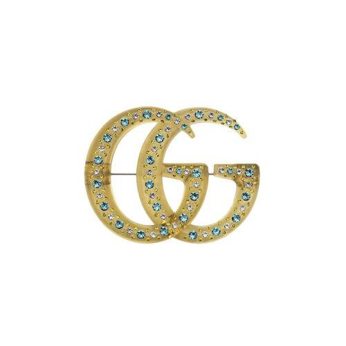 Gucci Brosche mit Kristallen - Gelb Male regular