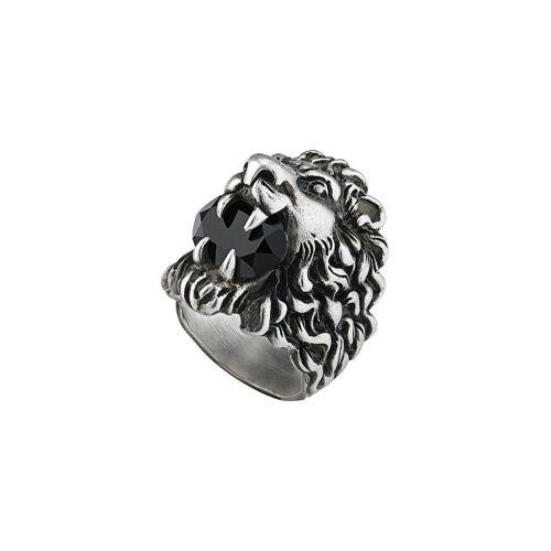 Gucci Löwenkopf-Ring mit Kristall - Silber Male regular