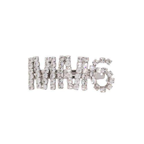 MM6 Maison Margiela Haarklammer mit Kristallen - Silber Male regular