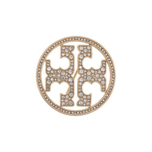 Tory Burch Brosche mit Kristallen - Gold Male regular