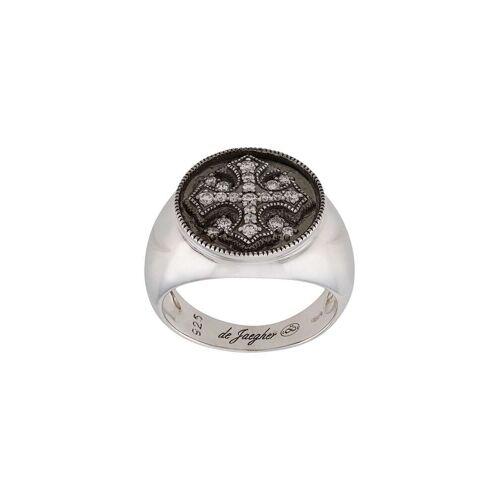 DE JAEGHER Ring mit Kristallkreuz - Silber Male regular