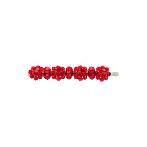 Simone Rocha Haarclip mit Kristallen - Rot Male regular