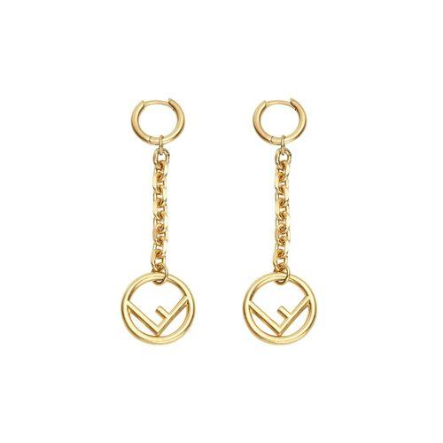 Fendi 'F is Fendi' Ohrringe - Gold Male regular