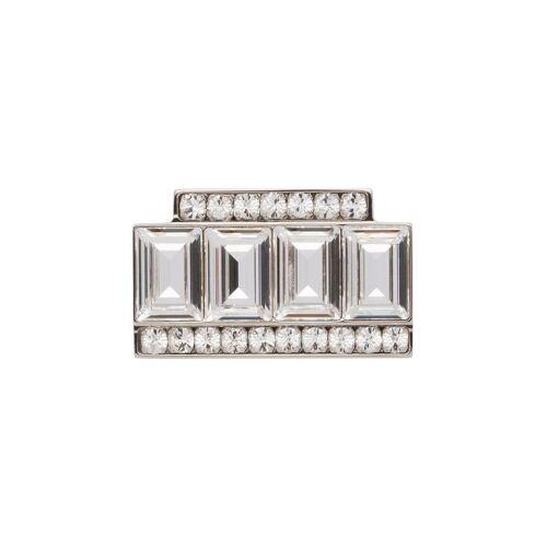 Miu Miu Brosche mit Kristallen - Silber Female regular