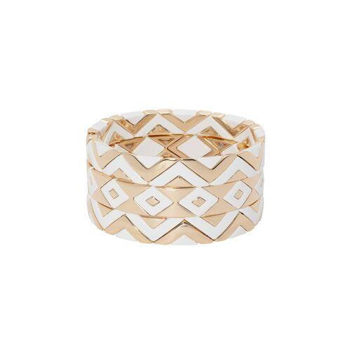 Roxanne Assoulin 'Puzzled' Armbänder-Set - Weiß Female regular