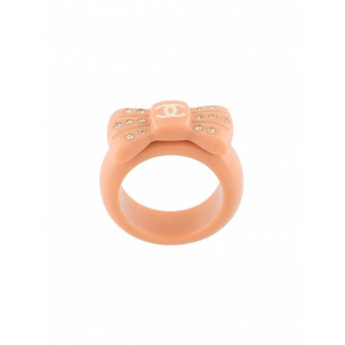 Chanel Pre-Owned 2002er Ring mit Kristallen - Rosa Female regular