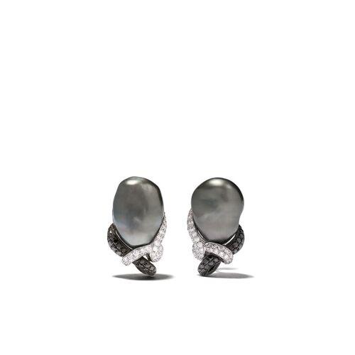 Yoko London 18kt Schwarz- und Weißgoldohrringe mit Tahitiperlen - Silber Female regular