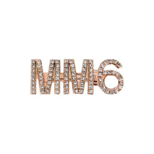 MM6 Maison Margiela Haarklammer mit Kristallen - Gold Female regular
