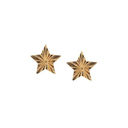 Saint Laurent Gehämmerte Ohrringe - Gold Male regular