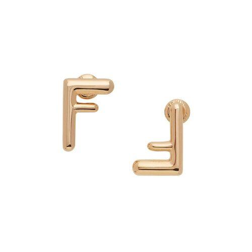 Fendi Ohrringe mit Logo - Gold Male regular