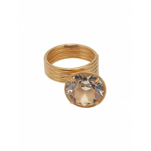 JW Anderson Ring mit Kristall - Gold Unisex regular