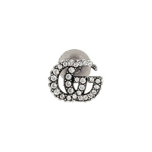 Gucci 'GG Marmont' Anstecknadel mit Kristallen - Silber Female regular