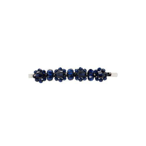 Simone Rocha Haarklammer mit Kristallen - Blau Male regular