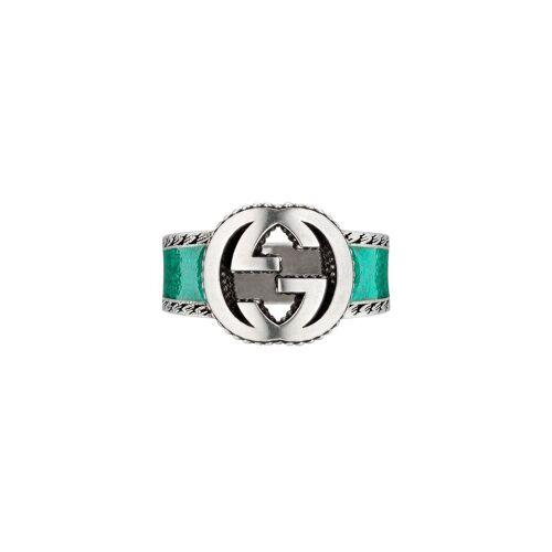 Gucci Ring mit verschlungenem GG - Silber Male regular
