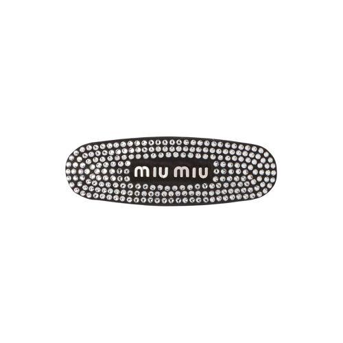 Miu Miu Haarklammer mit Kristallen - Schwarz Male regular